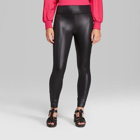 Women's Faux Leather High-Rise Leggings - Wild Fable™ Black : Targ