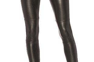 Splendid Faux Leather Legging in Black | REVOL
