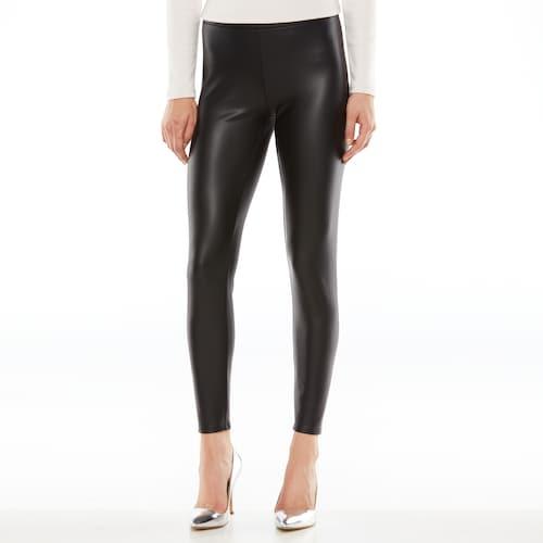 LC Lauren Conrad Faux-Leather Leggings - Women