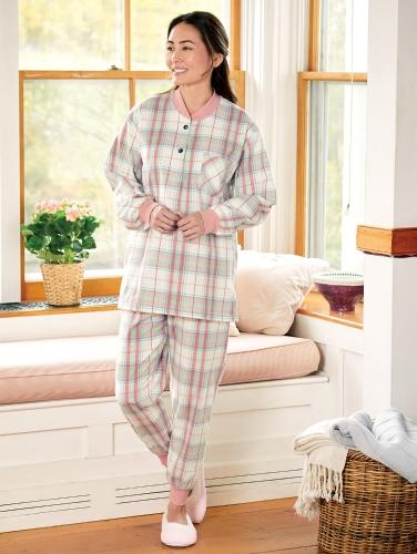 Womens Flannel Ski Pajamas | Woven Portuguese Flannel P