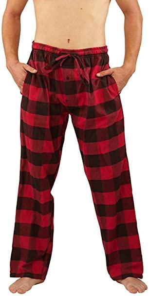 NORTY Mens Flannel Pajama Pants - Comfortable Cotton Bottoms Sleep .