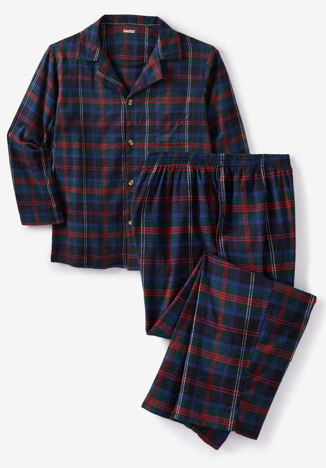 Plaid Flannel Pajama Set| Big and Tall Pajamas | King Si