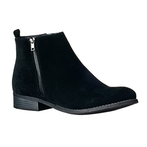 Women's Flat Ankle Boots: Amazon.c