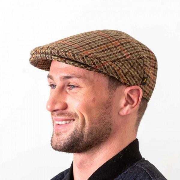 English Tweed Cap | Brown Check Cap | Driving Cap | Hatman Irela