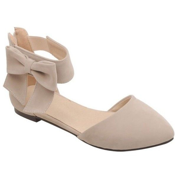 Elegant Bow and Zipper Design Flat Shoes For Women ($23) ❤ liked .