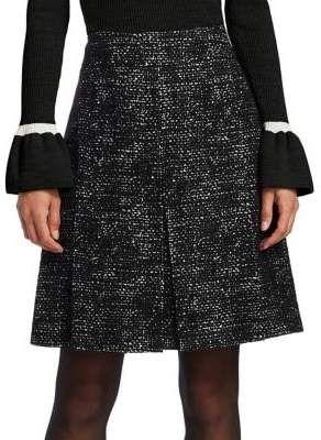 Tweed Knee-Length Skirt #flattering#flared#construction | Flare .