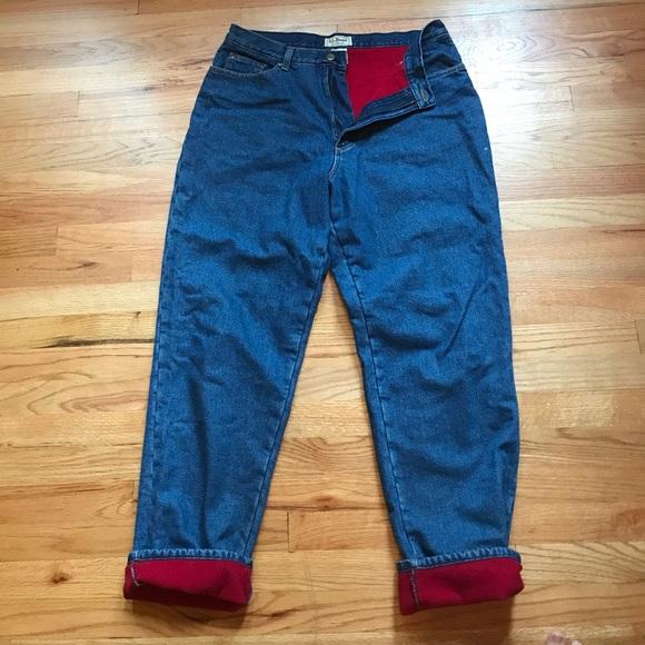L.L. Bean Jeans | Ll Bean Fleece Lined | Poshma