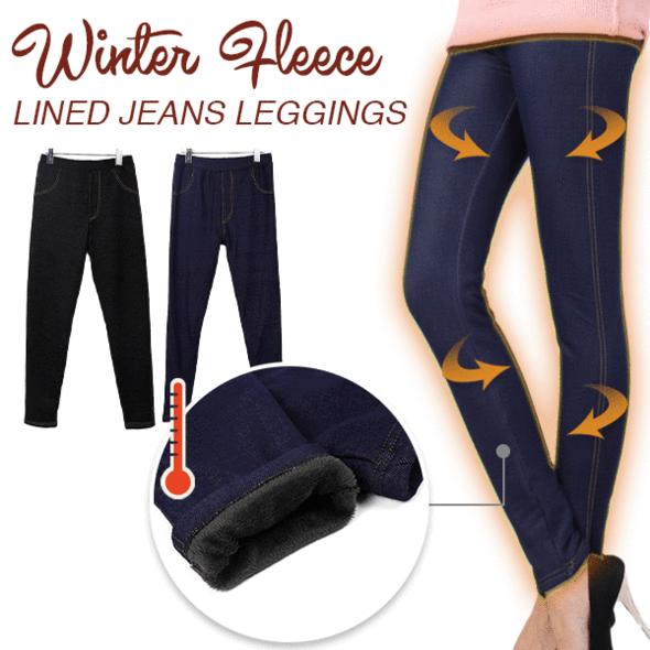 Women Winter Fleece Lined Jeans Leggings - Get 75% OFF – Wowe