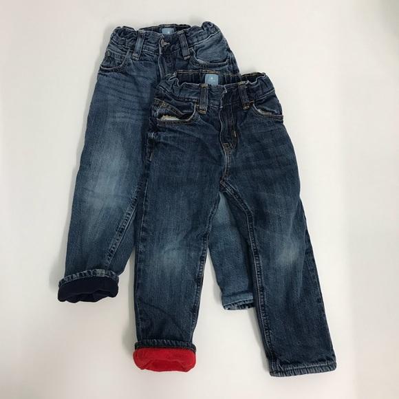 GAP Bottoms | Baby Fleece Lined Jeans Boys 3 | Poshma