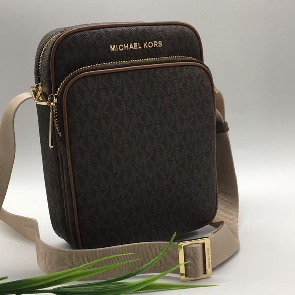 Michael Kors Bags | Md Flight Crossbody Bag Brown | Poshma