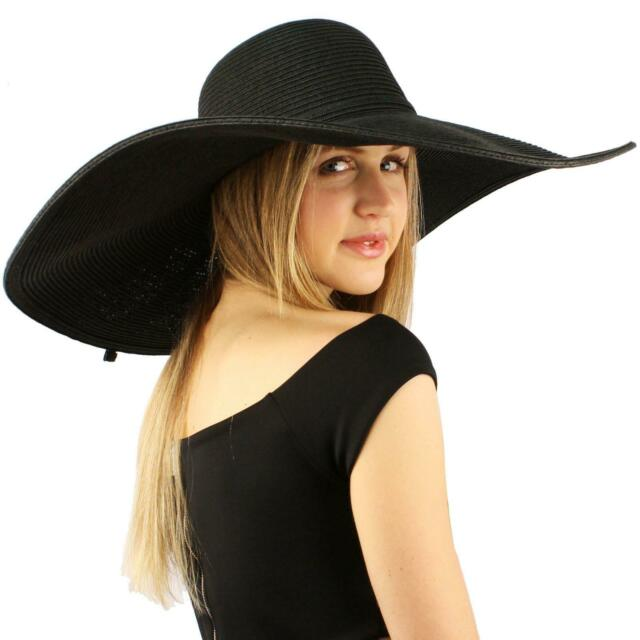 "Summer Elegant Derby Big Super Wide Brim 8"" Brim Floppy Sun Hat ."