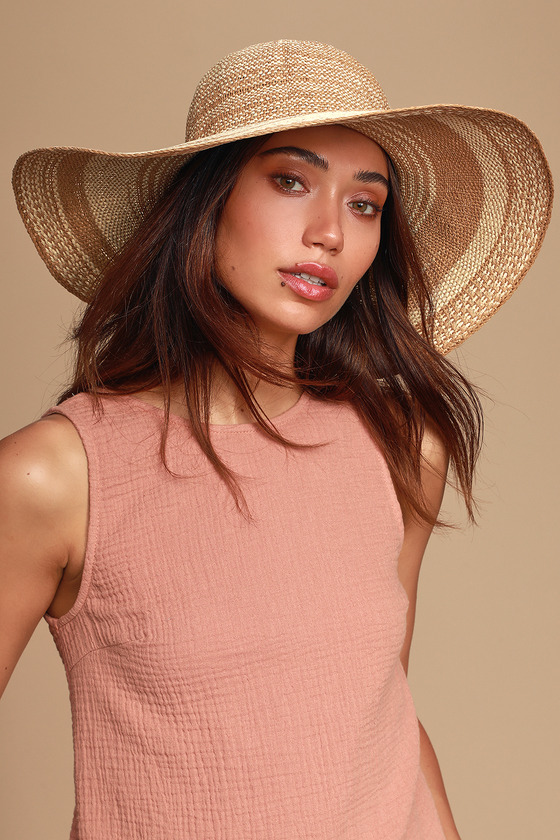 Cute Beige and Ivory Hat - Sun Hat - Straw Hat - Floppy H