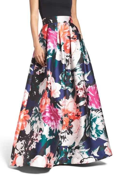 Ball skirt in 2020 | Floral skirt outfits, Ball skirt, Long skirt .