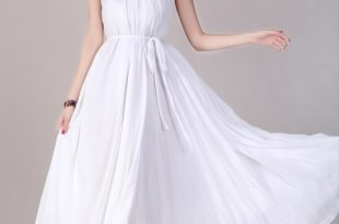 Bridesmaids White Dress White Flowy Maxi Dresses For Women One .