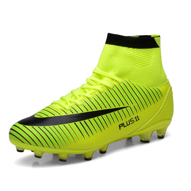 High Ankle Men Football Shoes Newest High Top Soccer Cleats Long .