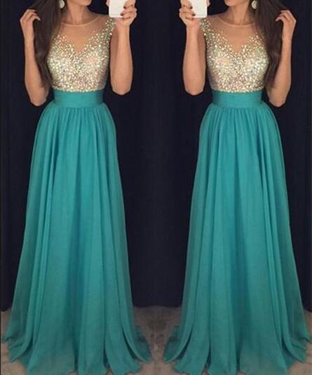 Sparkly Prom Dress,Long Prom Dress,Graduation Dress,Formal Maxi .