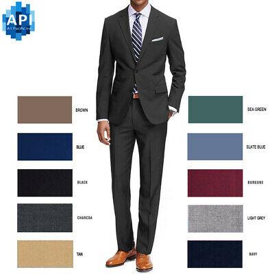 Men's Formal classic Fit 2 piece Suit two button solid color .