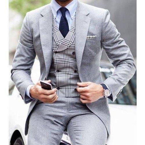 Party Gray Mens Light Grey Designer Formal Suit, Size: 38 - 44, Rs .