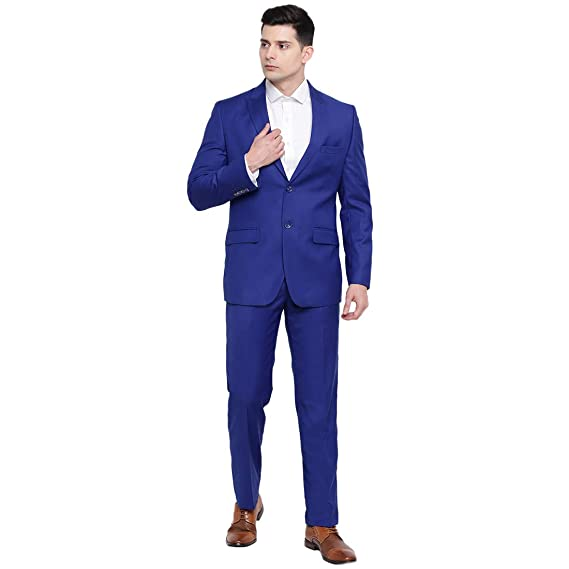 Buy suitsmith 2 Piece Men's Suit, Italian Fit Slim Fit Formal .