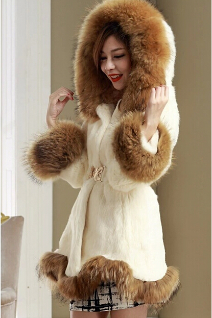 HIDAHIDA hot Fashion Winter Faux Fur Coat Women High Grade Belt .