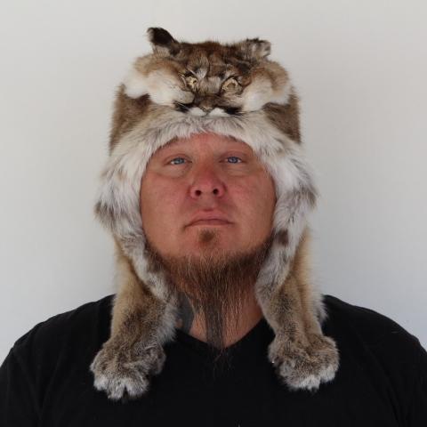 Cougar Mountain Man Fur Hat — Claw, Antler & Hide C