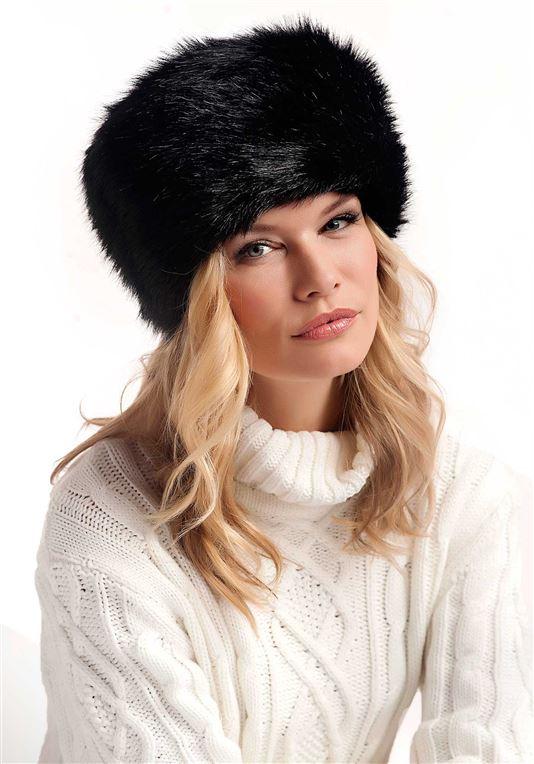 Black Fox Faux Fur Russian Hat | Womens Faux Fur Ha