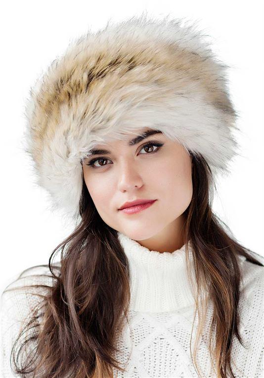Russian Wolf Faux Fur Russian Hat | Womens Faux Fur Ha