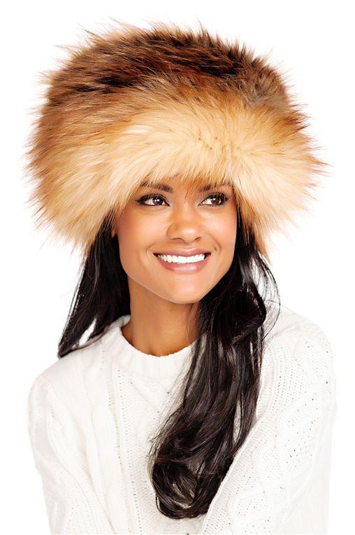 Red Fox Faux Fur Russian Hat | Womens Faux Fur Ha