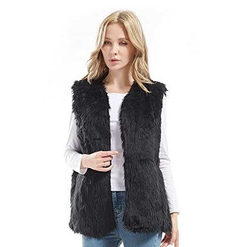 Black Faux Fur Vests: Amazon.c