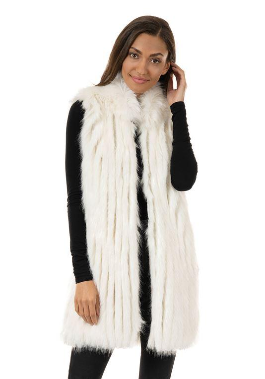 Ivory Aprés Mink Faux Fur Vest | Womens Faux Fur Ves