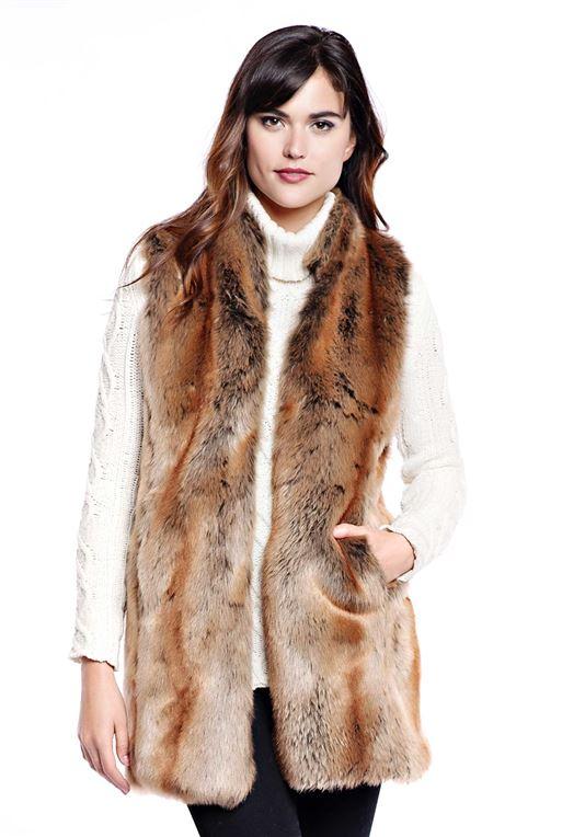 Coyote Every-Wear Faux Fur Vest | Womens Faux Fur Ves
