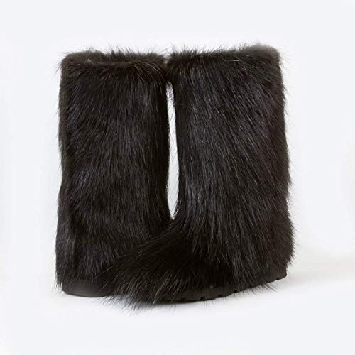 Amazon.com: Black Fur Boots For Women, Mukluk Boots, Yeti Boots .