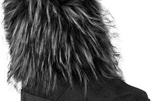 Amazon.com   Fashion Thirsty Womens Flat Faux Fur Furry Winter .