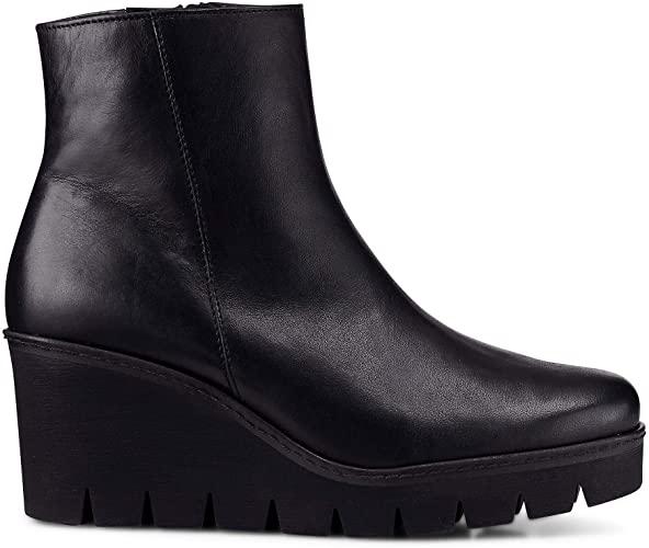 Amazon.com | Gabor Utopia Womens Chunky Wedge Heel Ankle Boots .