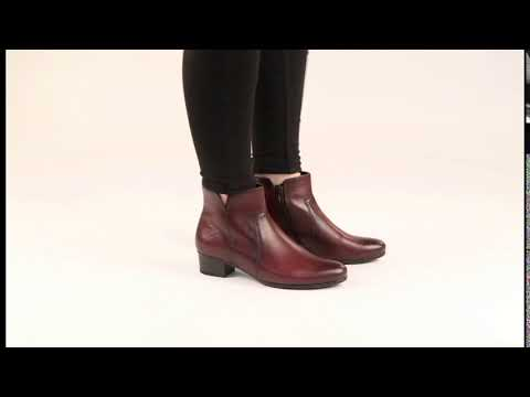 Gabor Delaware Wine Modern Ankle Boots - YouTu