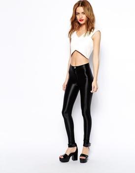 Girls Clothing High Waisted Super Skinny Disco Pants - Buy High .