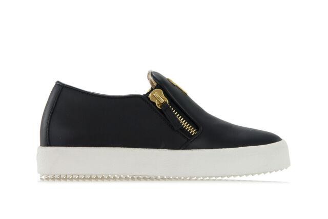 Giuseppe Zanotti Design Womens SNEAKERS Shoes Cruel Black Gold .