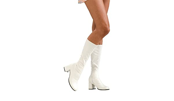 Amazon.com: Secret Wishes Go-Go Boots, White: Toys & Gam