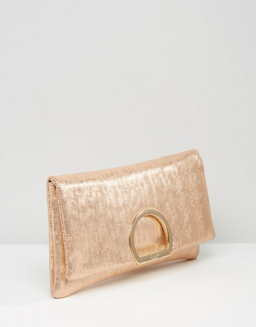 Dune Rose Gold Clutch Bag | AS
