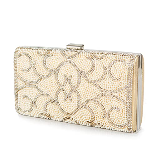 Amazon.com: Round Clutch, Gold Clutch, Crystal Clutch, Bridal .