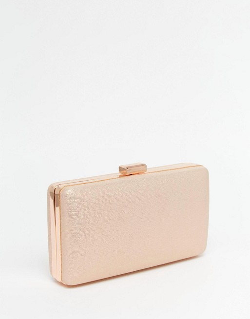 Chi Chi London Box Clutch Bag in Rose Gold | AS