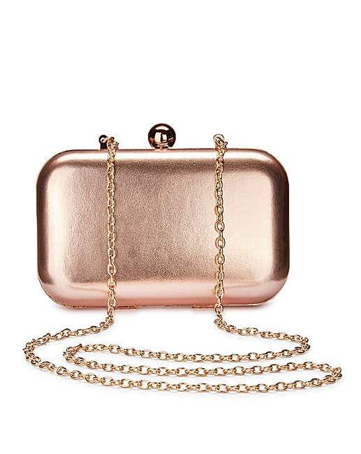 Alice Rose Gold Clutch Bag | Fashion World | Rose gold clutch bag .