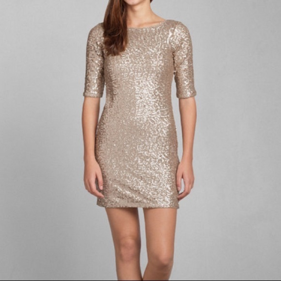 Abercrombie & Fitch Dresses | Price Drop Gold Sequin Dress | Poshma