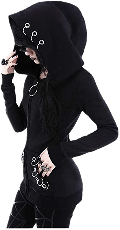 Amazon.com: aihihe Womens Hooded Jackets Coats Cardigan Black .