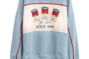 Crew Neck Pepper Pot Graphic Sweatshirt (165 GTQ) ❤ liked on .