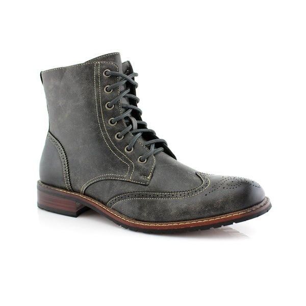 Buy Grey Men's Boots Online at Overstock | Our Best Men's Shoes Dea