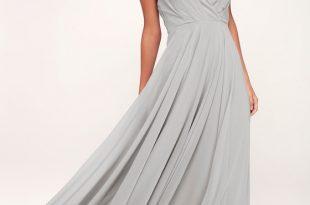 Lovely Light Grey Dress - Maxi Dress - Bridesmaid Dre