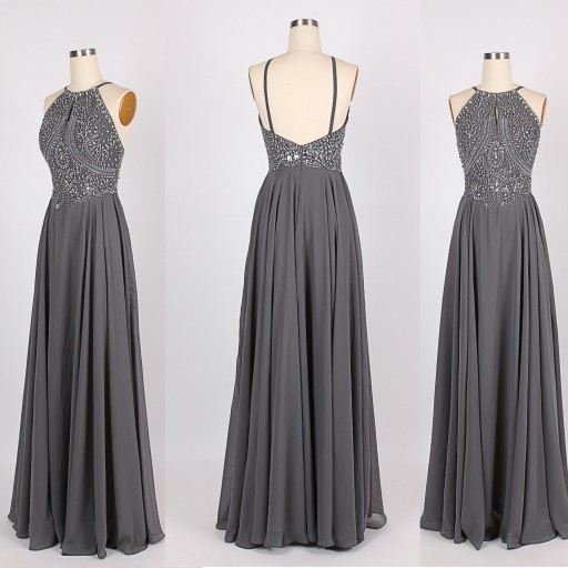 Dark Grey Prom Dress Prom Dresses Evening Party Gown Formal Wear .