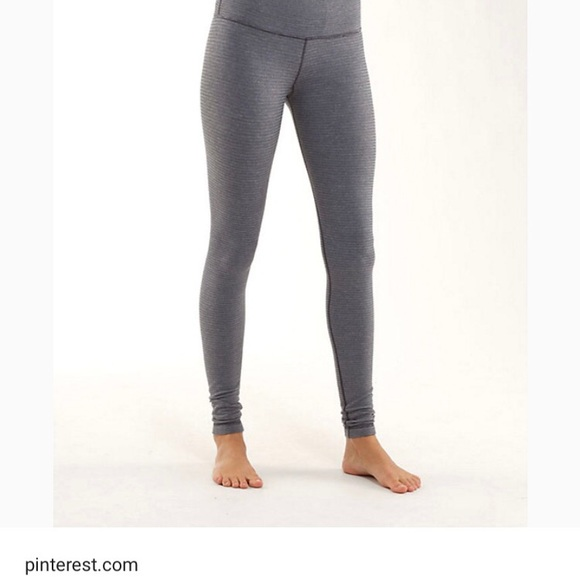 lululemon athletica Pants | Iso Grey Solid Full Length Fitted Lulu .