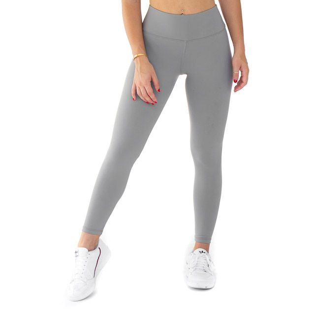 Light Grey High Waist Legging in 2020 | Grey leggings outfit, Grey .
